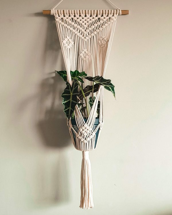 Duży kwietnik ze sznurka