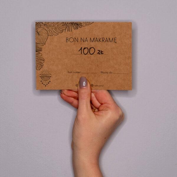 Bon na makramę - 100 zł