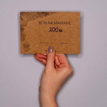 Bon na makramę - 200 zł